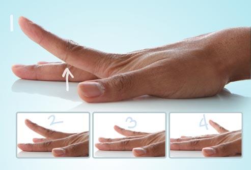 بلند کردن انگشت ها / تمرینات کاردرمانی دست